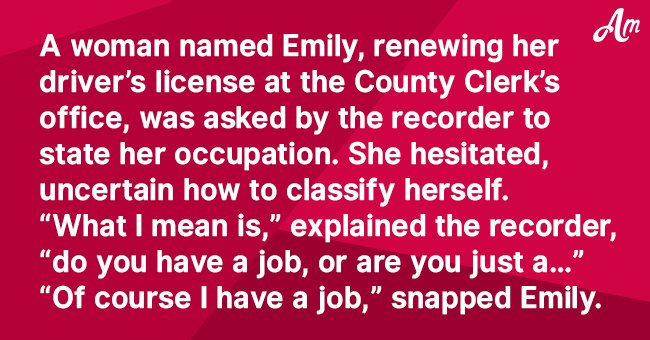Joke: Clerk Asks a Woman What She Does for a Living