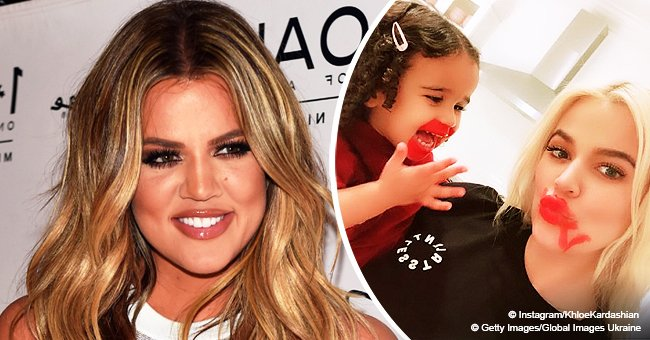 Khloé Kardashian has her makeup done by niece Dream