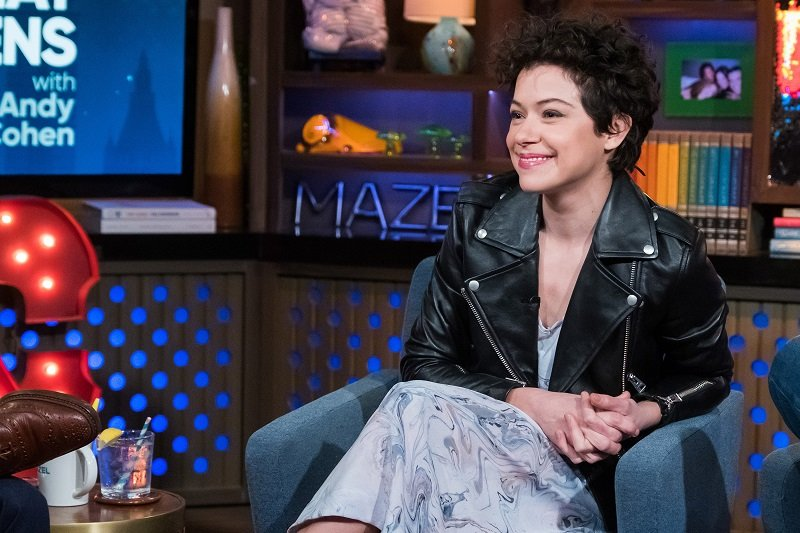 "Tatiana Maslany during an interview with Andy Cohen's ""Watch What Happens Live"" in November 2018 