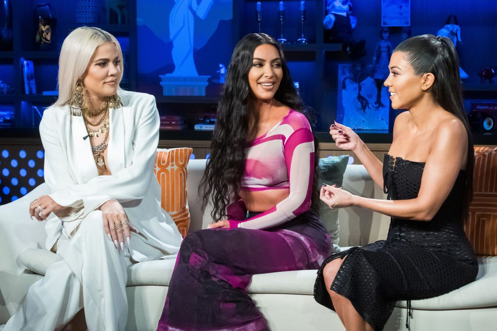 "Khloe Kardashian, Kim Kardashian and Kourtney Kardashian  on Andy Cohen's ""Watch What Happens Live"" January 14, 2019 