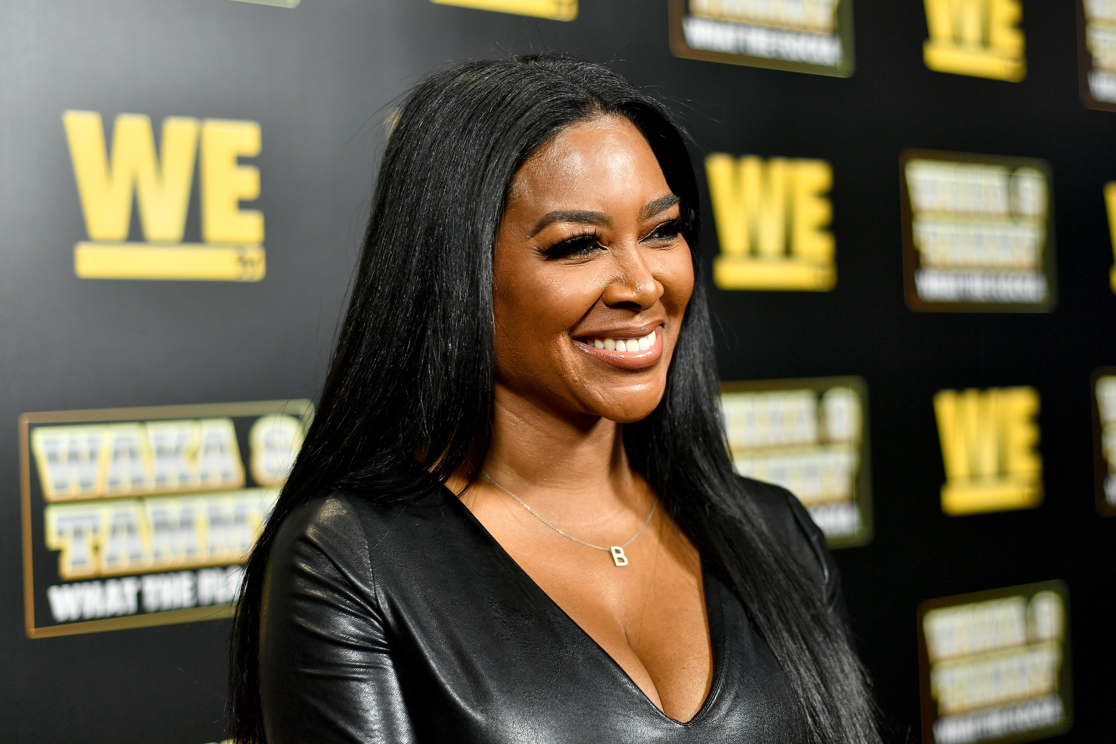 """Kenya Moore at the premiere of """"Waka & Tammy: What The Flocka"""" at Republic on March 10, 2020 in Atlanta, Georgia.
