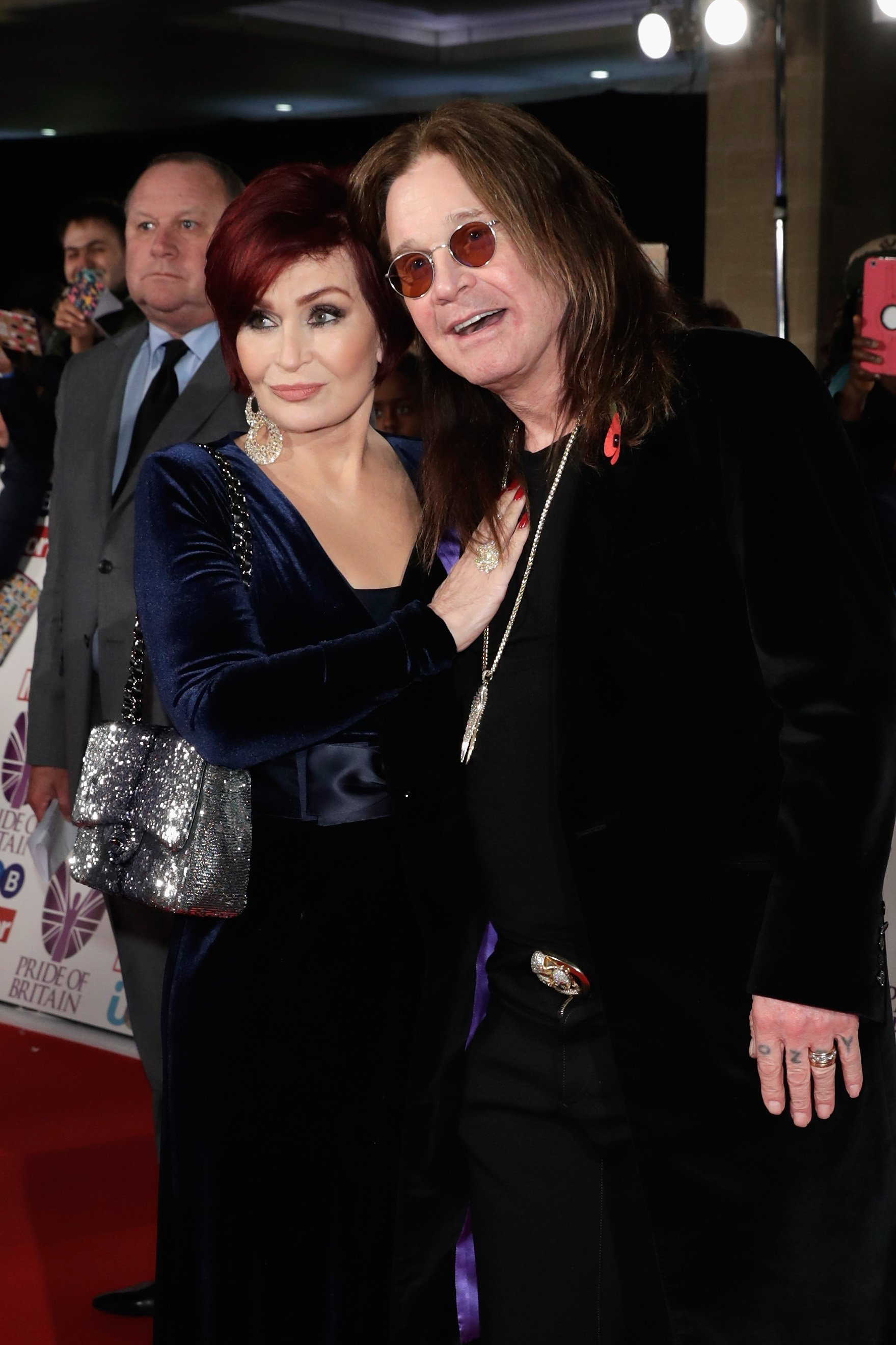 Sharon Osbourne and Ozzy Osbourne attend the Pride Of Britain Awards at Grosvenor House, on October 30, 2017, in London, England. | Source: Getty Images.