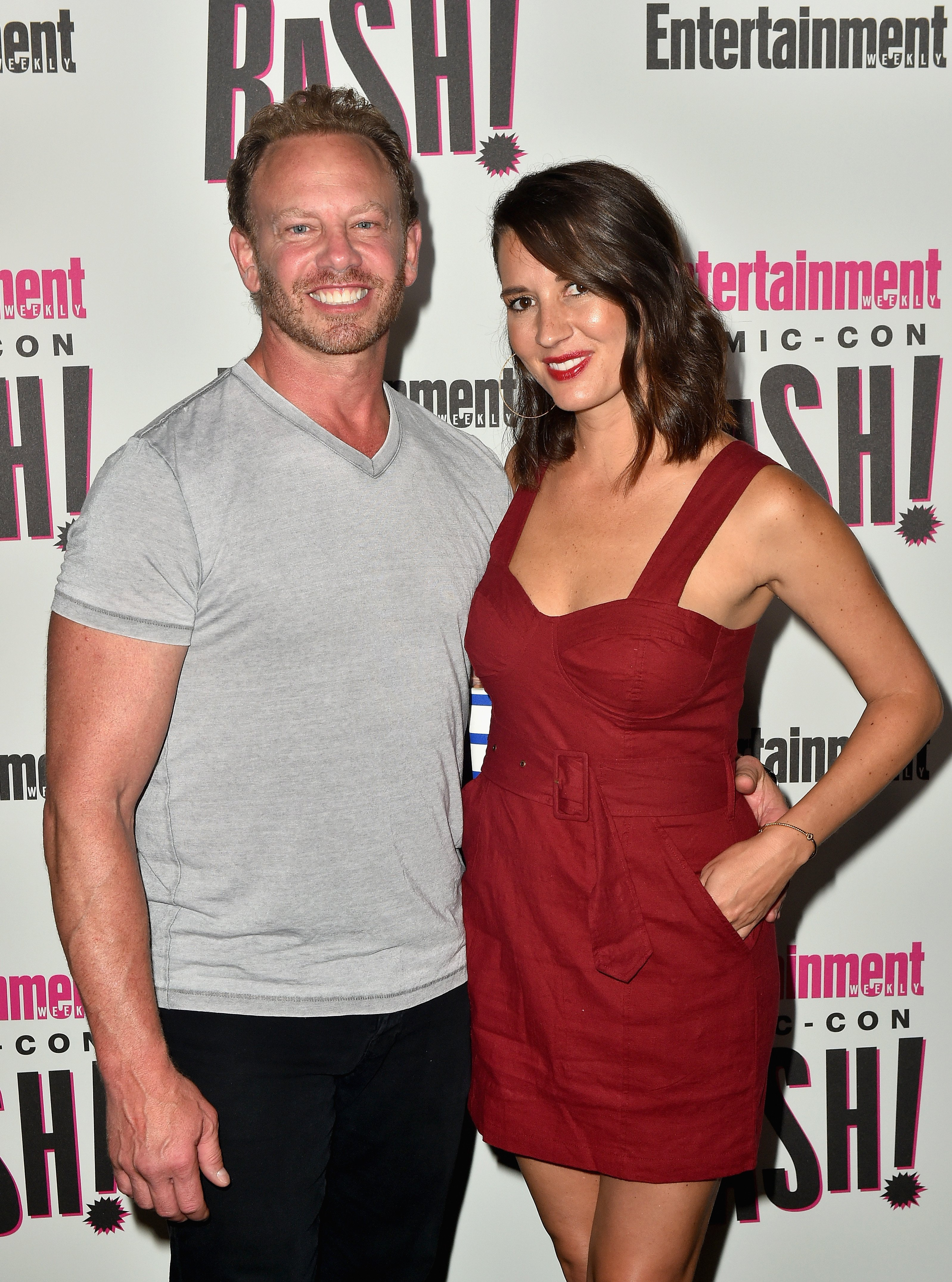 Ian Ziering (L) and Erin Ludwig attend Entertainment Weekly's Comic-Con Bash on July 21, 2018, in San Diego, California. | Source: Getty Images.