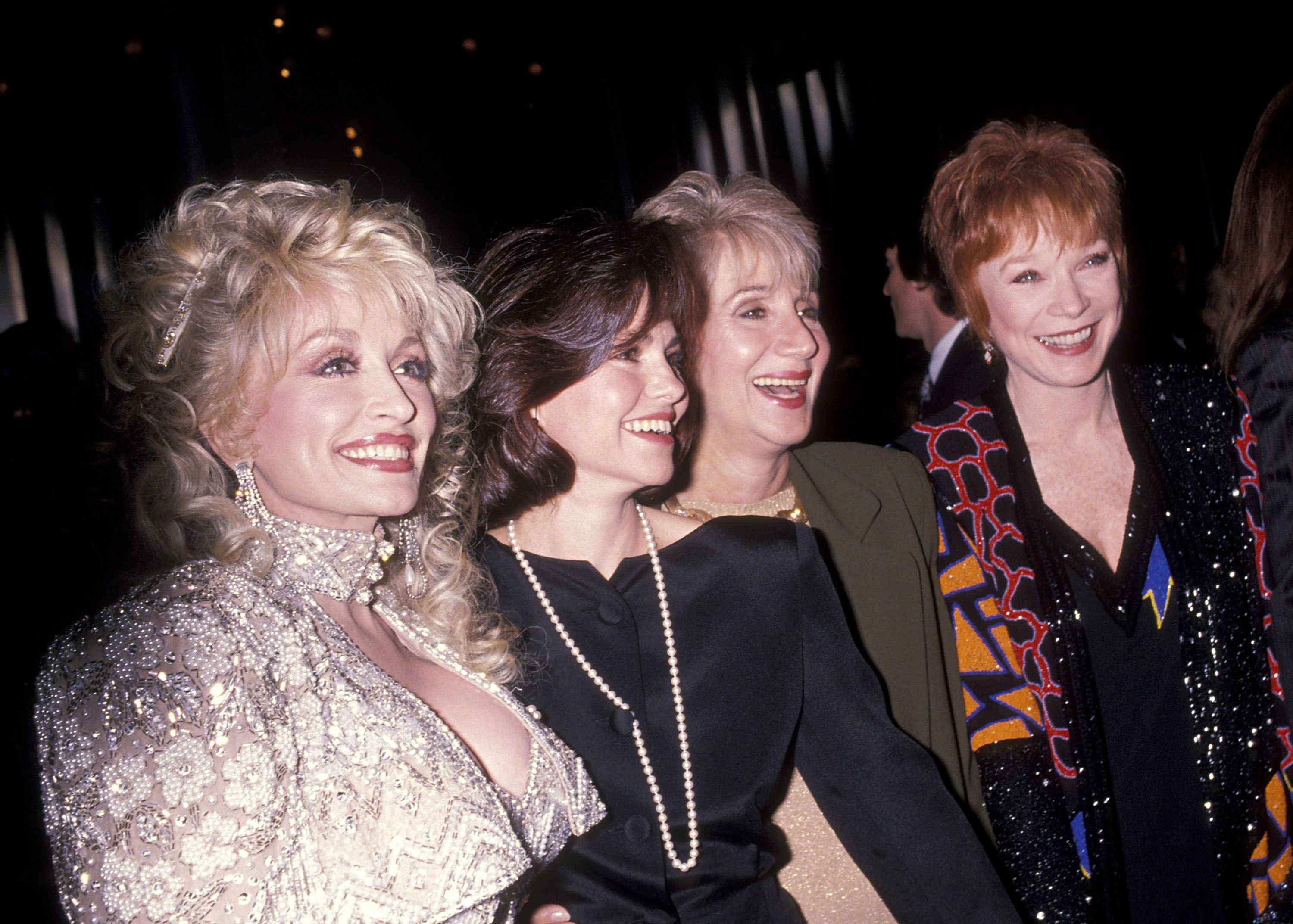 "Dolly Parton, Sally Field, Olympia Dukakis and Shirley MacLaine at the ""Steel Magnolias"" New York City Premiere on November 5, 1989 