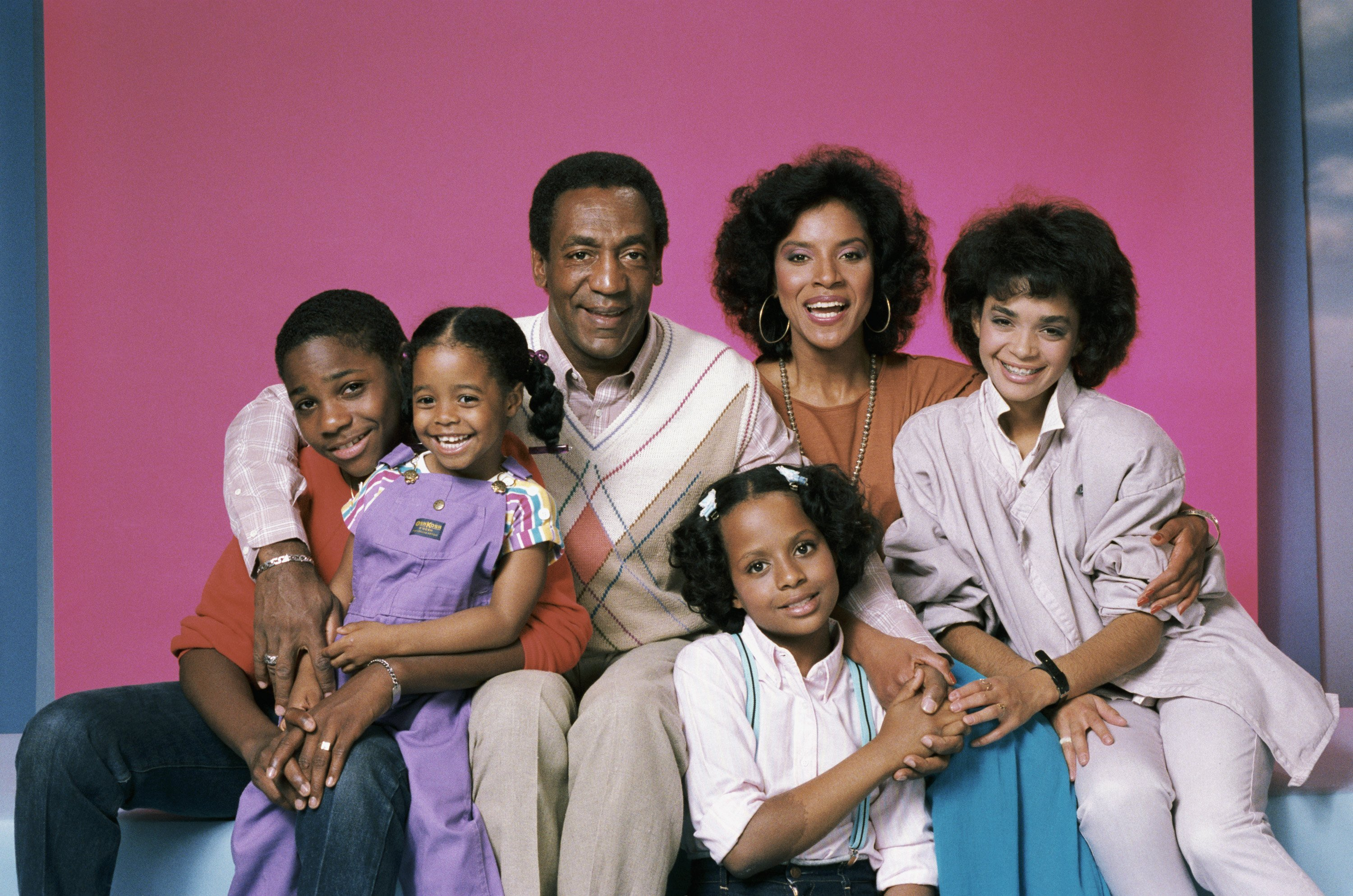 """The cast of """"The Cosby Show"""" in a promotional photoshoot for the show's first season in 1984 
