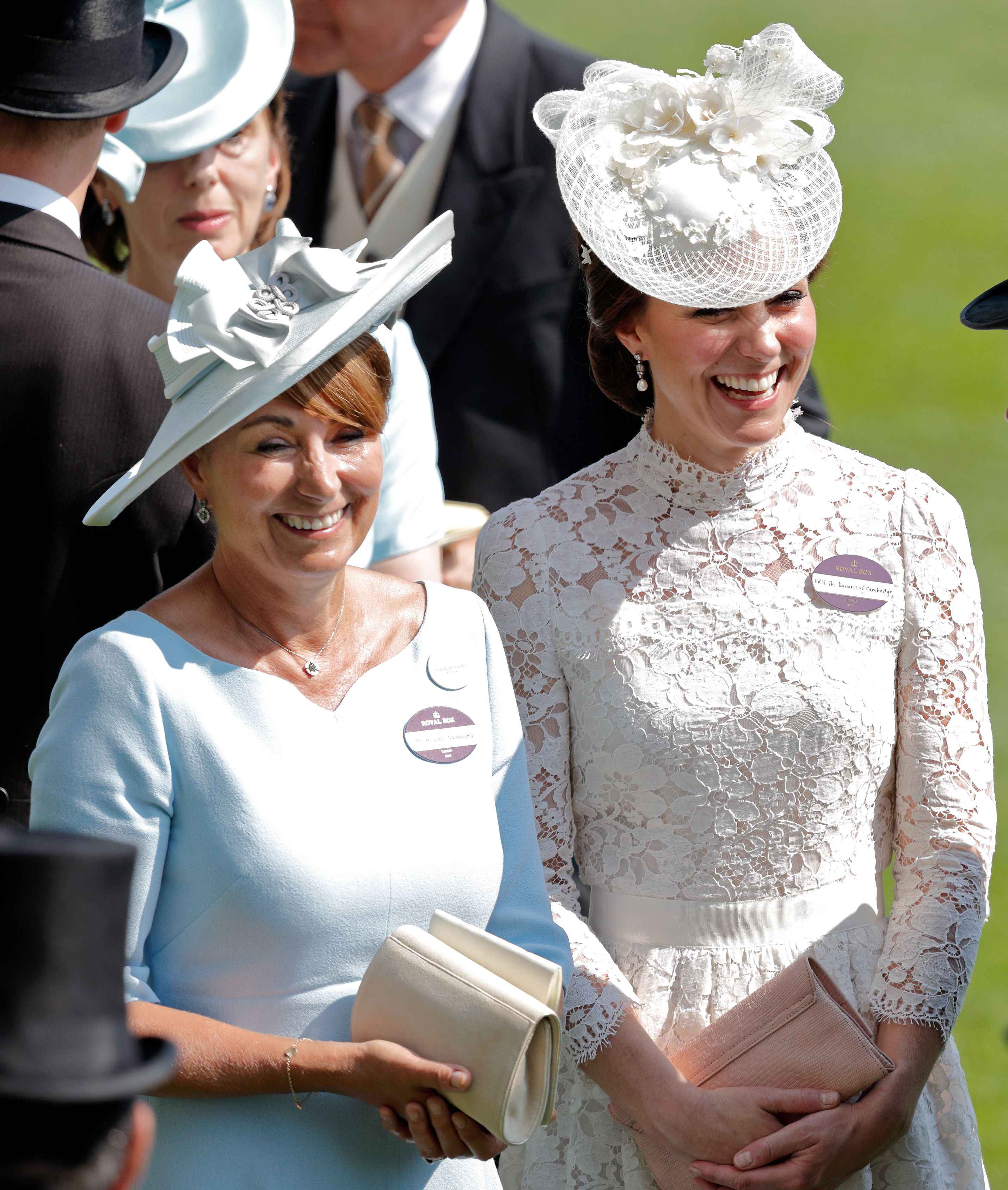 Kate Middleton and her mother Carole Middleton attend day 1 of Royal Ascot at Ascot Racecourse on June 20, 2017 in Ascot, England. | Photo: Getty Images