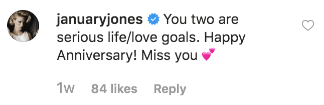 January Jones comments on Mary Steenburgen's 24 year anniversary message to Ted Danson | Source: instagram.com/mary_steenburgen