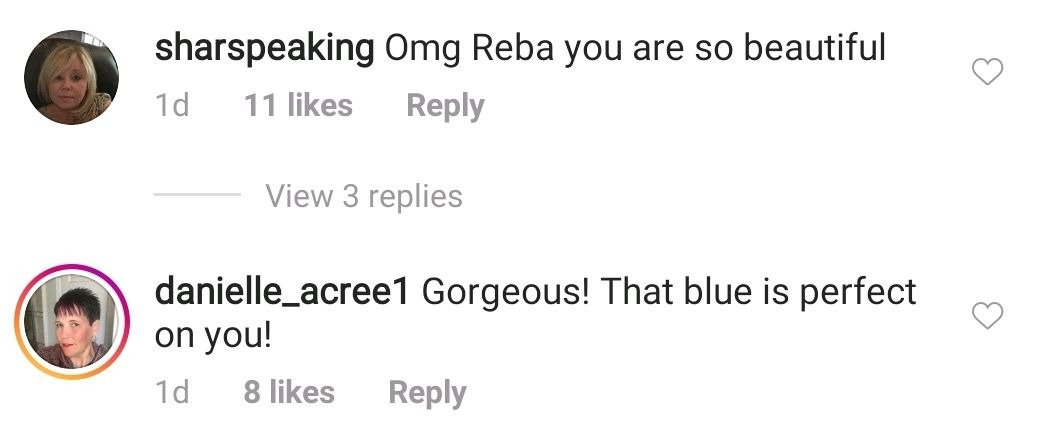 A screenshot of a fan's comment on Reba McEntire's post on her instagram page | Photo: instagram.com/reba/