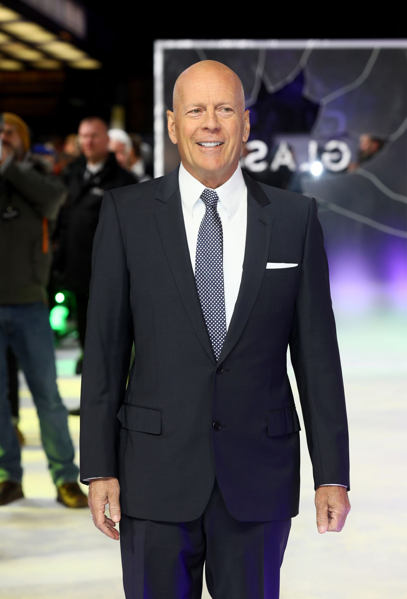 "Bruce Willis attends the UK Premiere of M. Night Shyamalan's all-new comic-book thriller ""Glass"" at Curzon Cinema Mayfair 