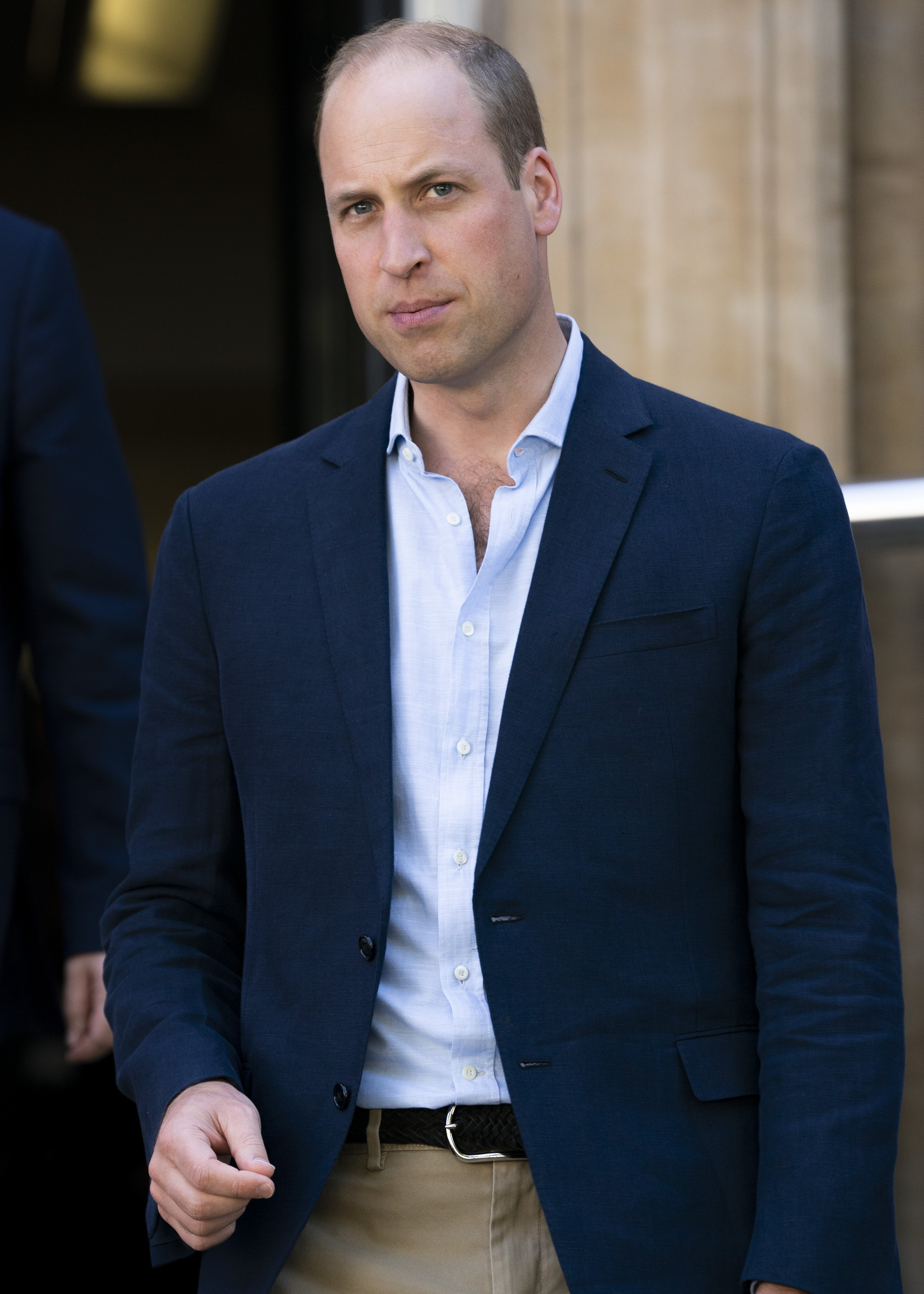 Prince William, Duke of Cambridge visits the Royal Marsden on July 04, 2019, in London, United Kingdom. | Source: Getty Images.