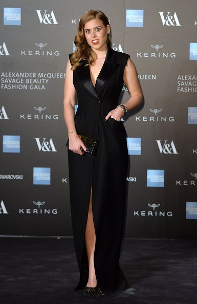 "Princess Beatrice attends a private view for the ""Alexander McQueen: Savage Beauty"" exhibition at Victoria & Albert Museum 