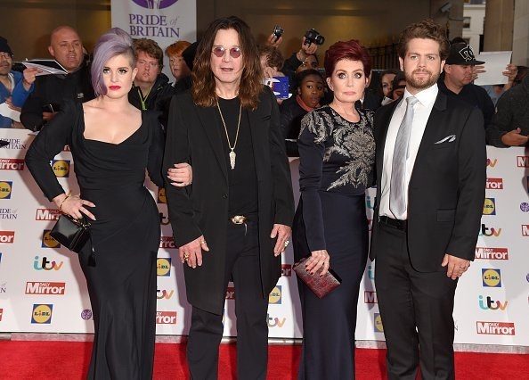 Kelly, Ozzy, Sharon, and Jack Osbourne at The Grosvenor House Hotel on September 28, 2015 in London, England. | Photo: Getty Images