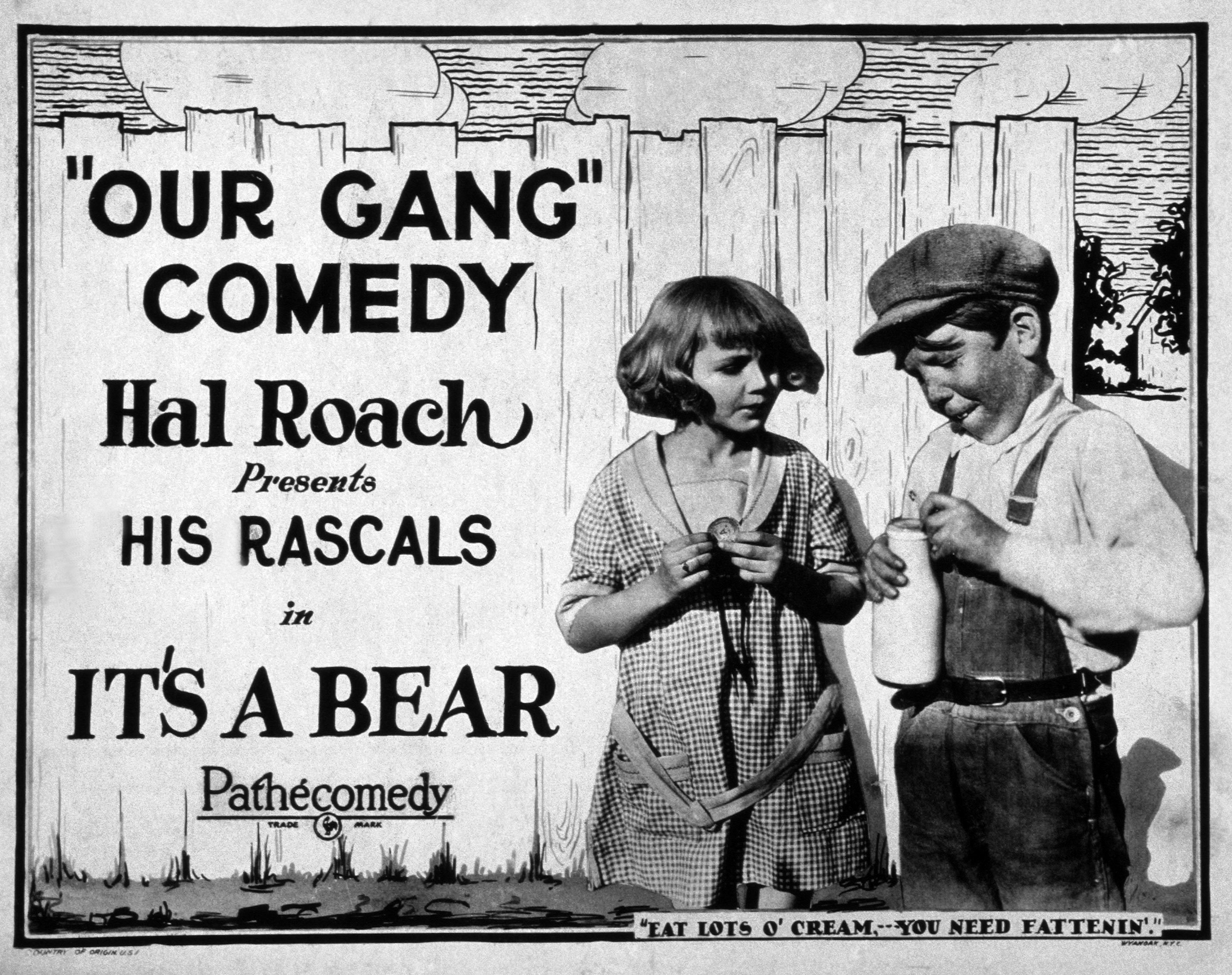 """:Our Gang"""" poster in the '20s 