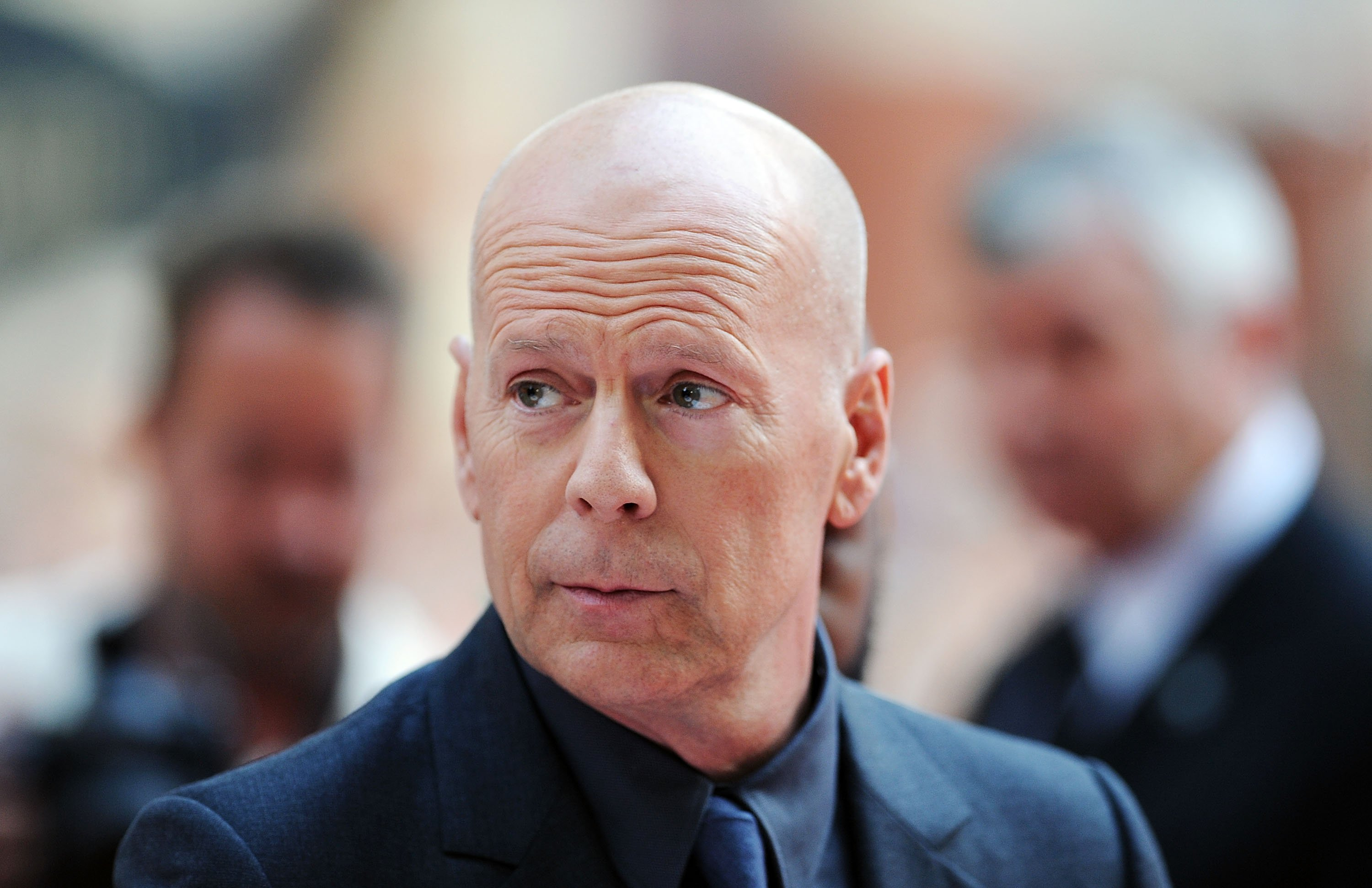"Bruce Willis attends the premiere of ""Red 2"" in London, England on July 22, 2013 