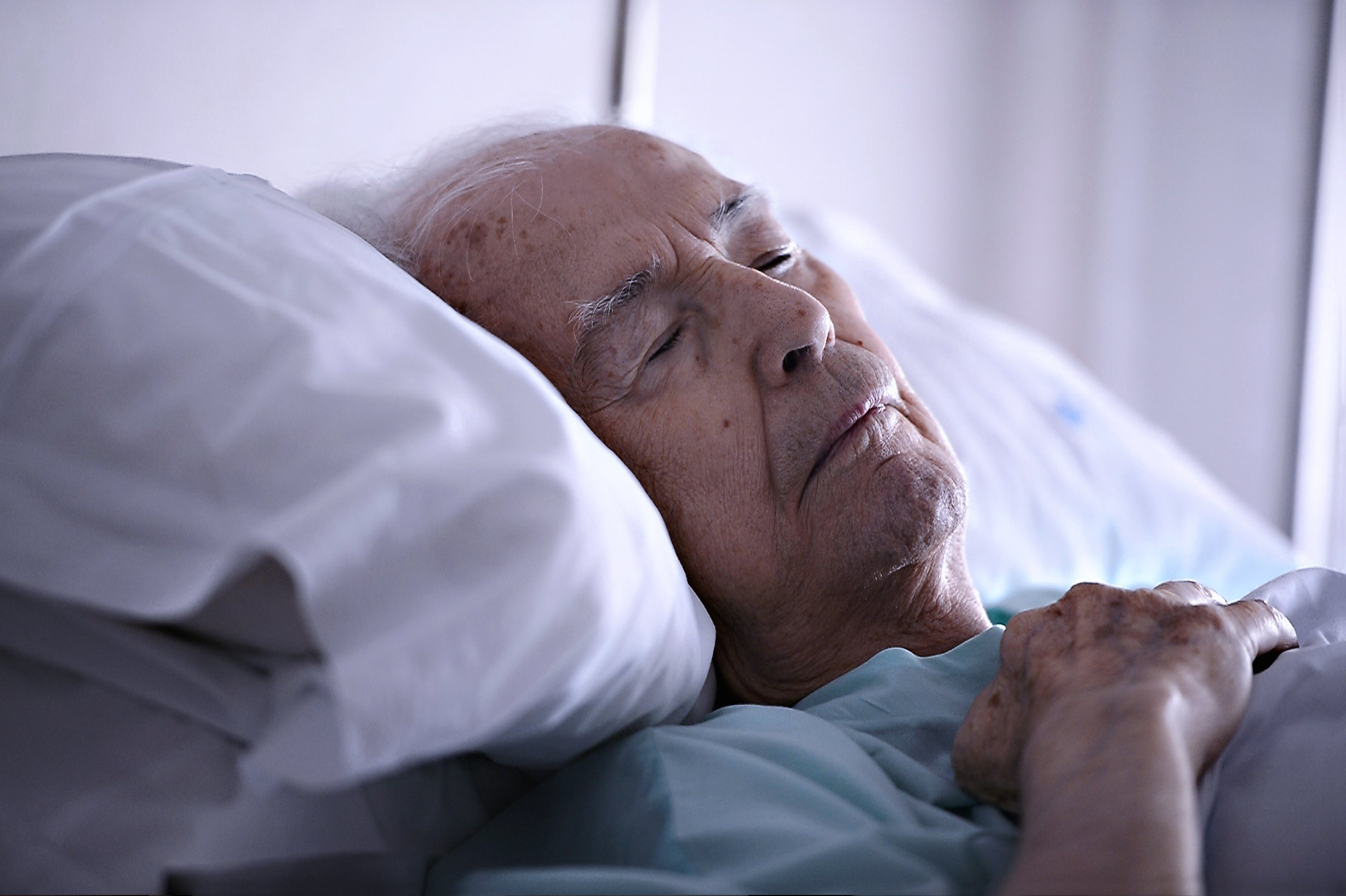 Old man on his death bed   Source: Shutterstock