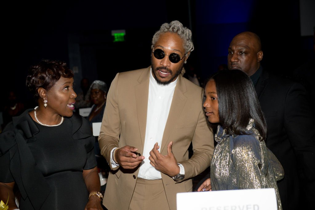 Future with his mother, Stephanie Jester and daughter, Londyn Wilburn at the Golden Wishes Gala on November 16, 2019. | Photo: Getty Images