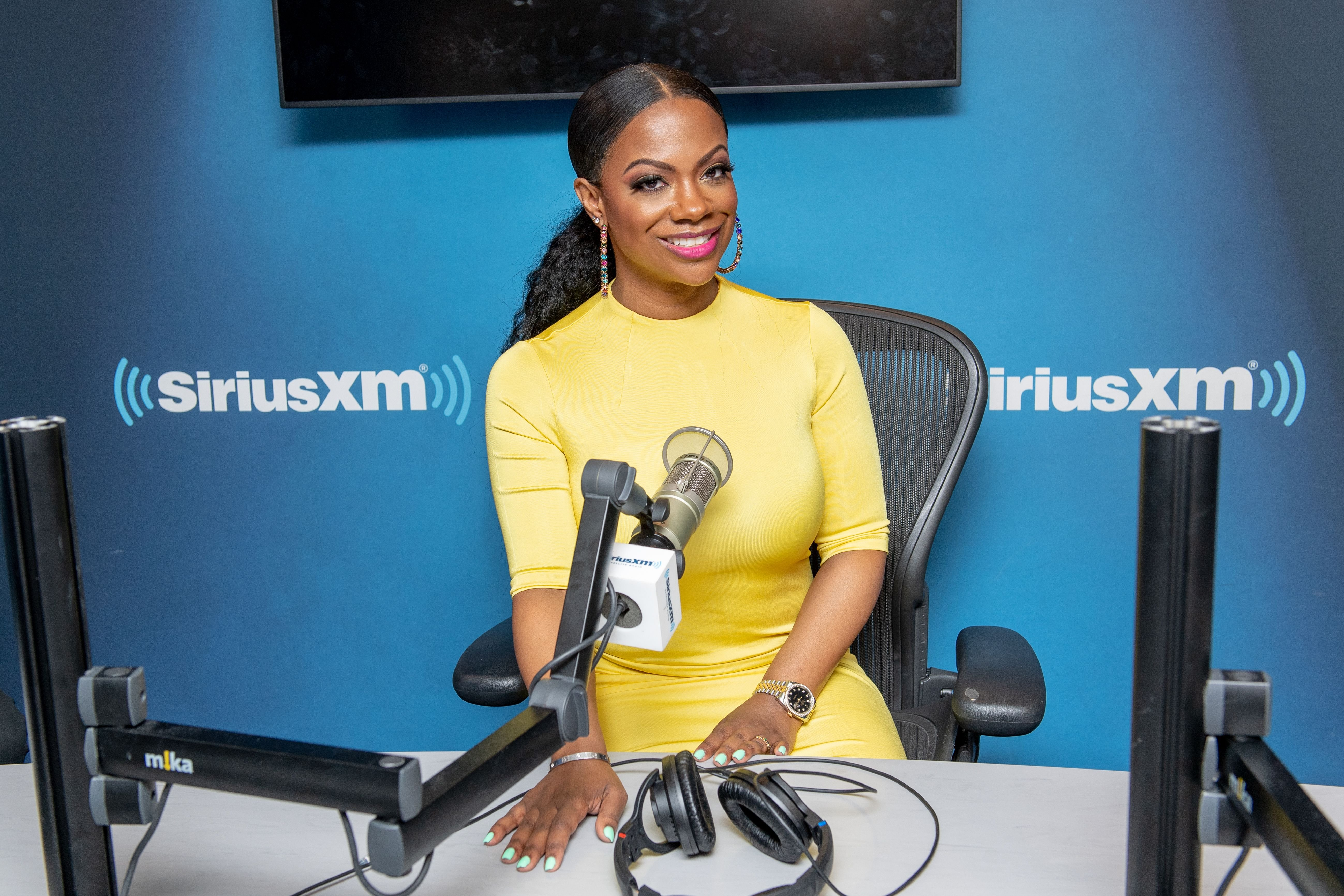 Kandi Burruss visits SiriusXM Studios. | Source: Getty Images