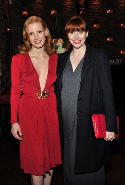 Jessica Chastain and Bryce Dallas Howard at the 2011 Toronto International Film Festival on September 11, 2011 in Toronto, Canada. | Photo: Getty Images