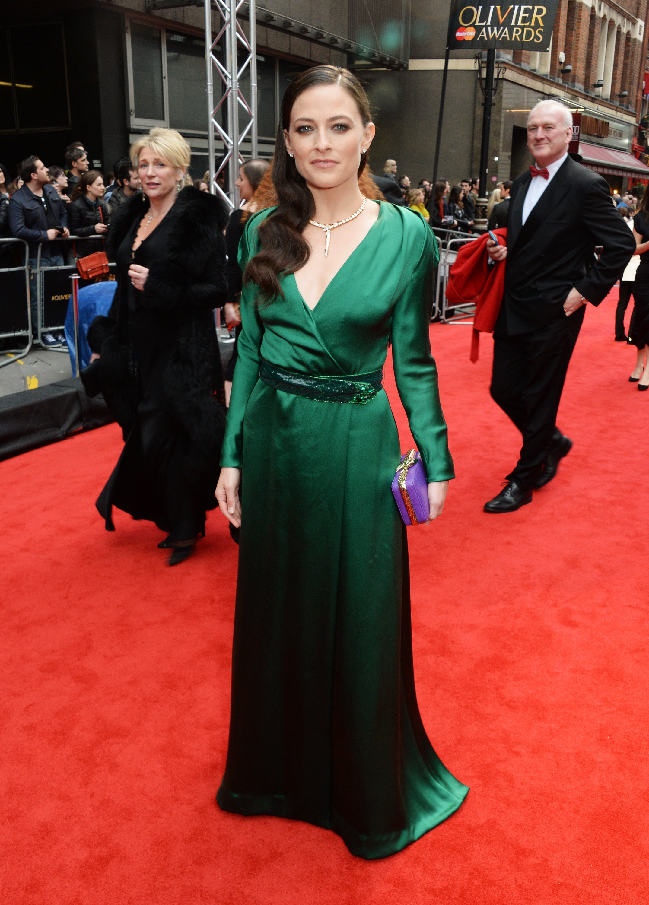 Lara Pulver arrives at The Olivier Awards with Mastercard at The Royal Opera House on April 3, 2016 in London, England   Photo: GettyImages
