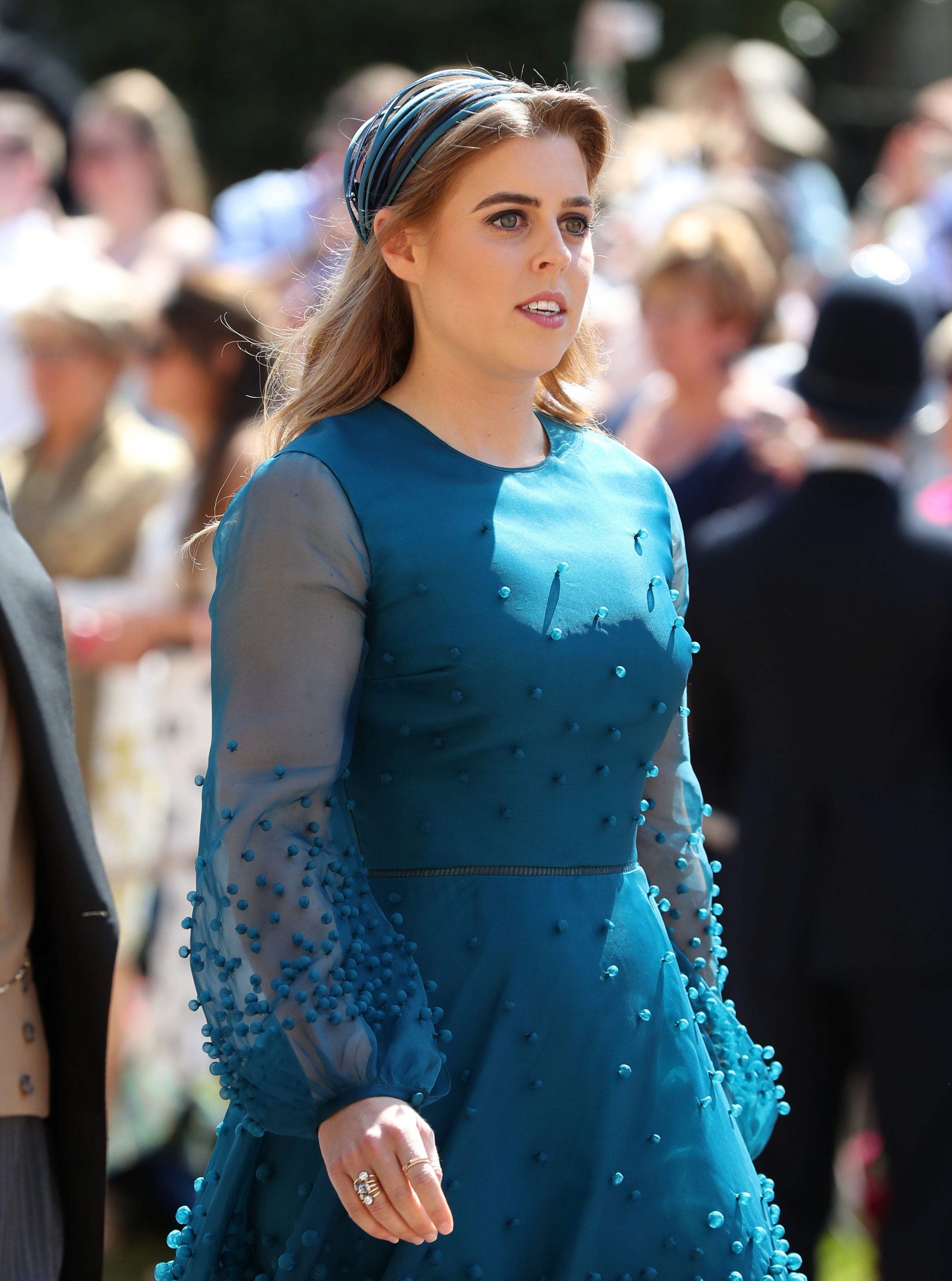 Princess Beatrice arrives at St George's Chapel at Windsor Castle before the wedding of Prince Harry to Meghan Markle on May 19, 2018 in Windsor, England   Photo: Getty Images
