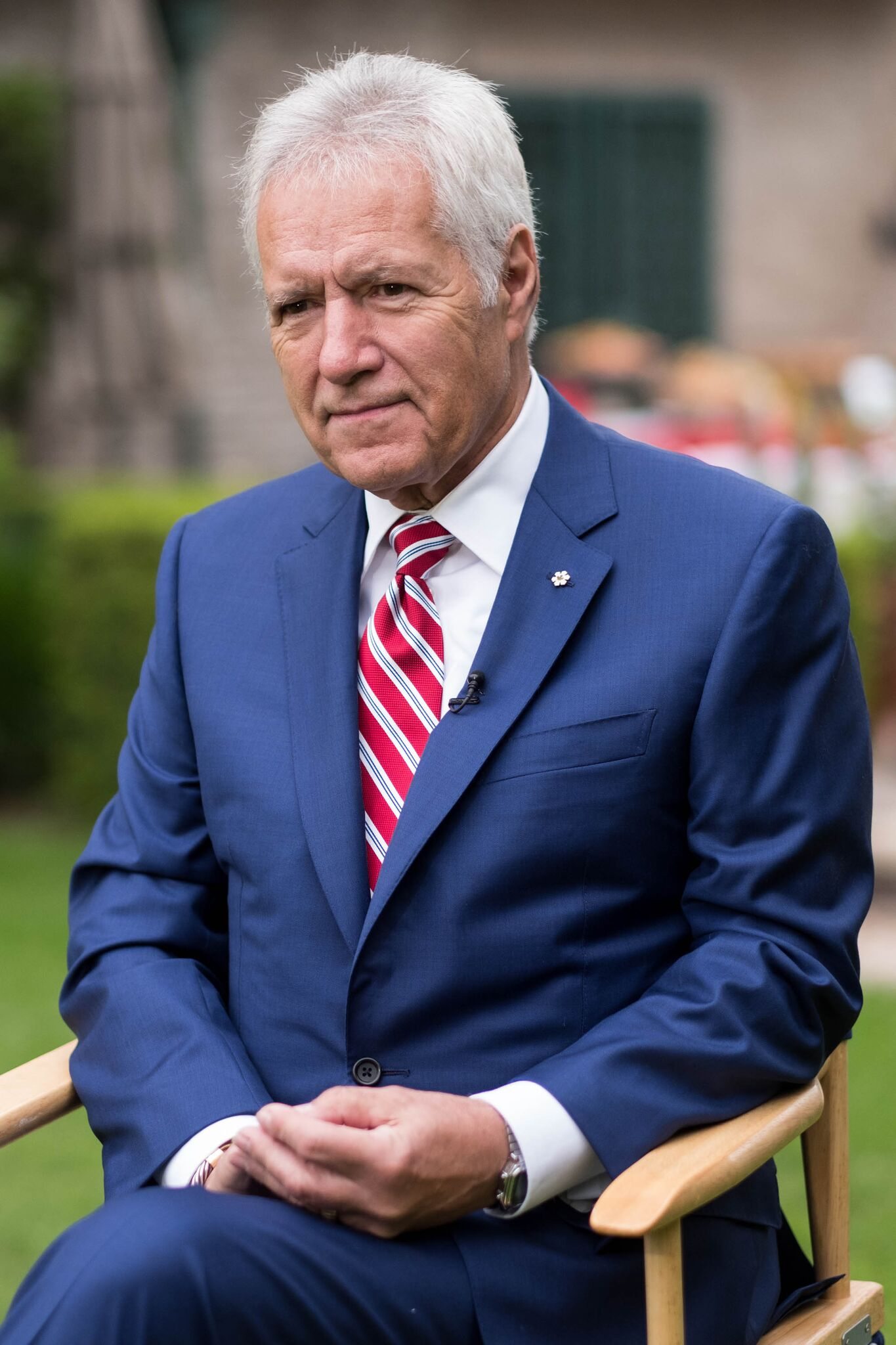 TV personality Alex Trebek attends the 150th anniversary of Canada's Confederation at the Official Residence of Canada   Getty Images