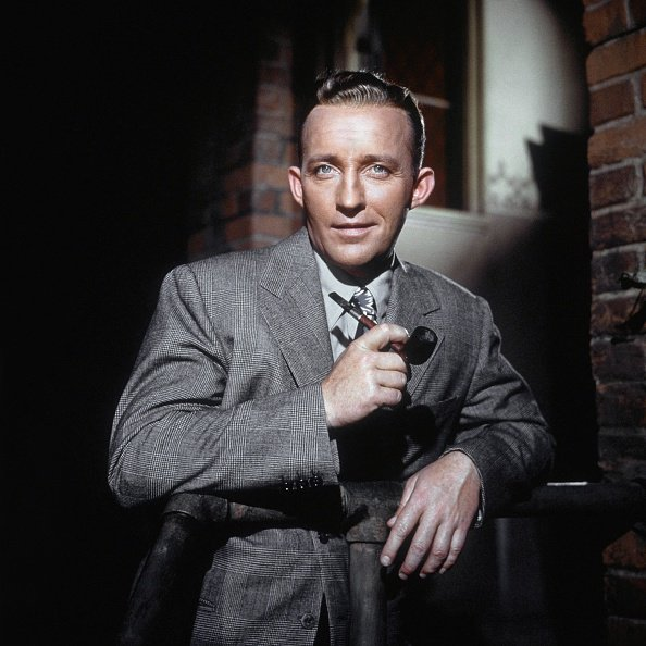 Bing Crosby poses for a portrait with pipe in circa 1950.   Photo: Getty Images