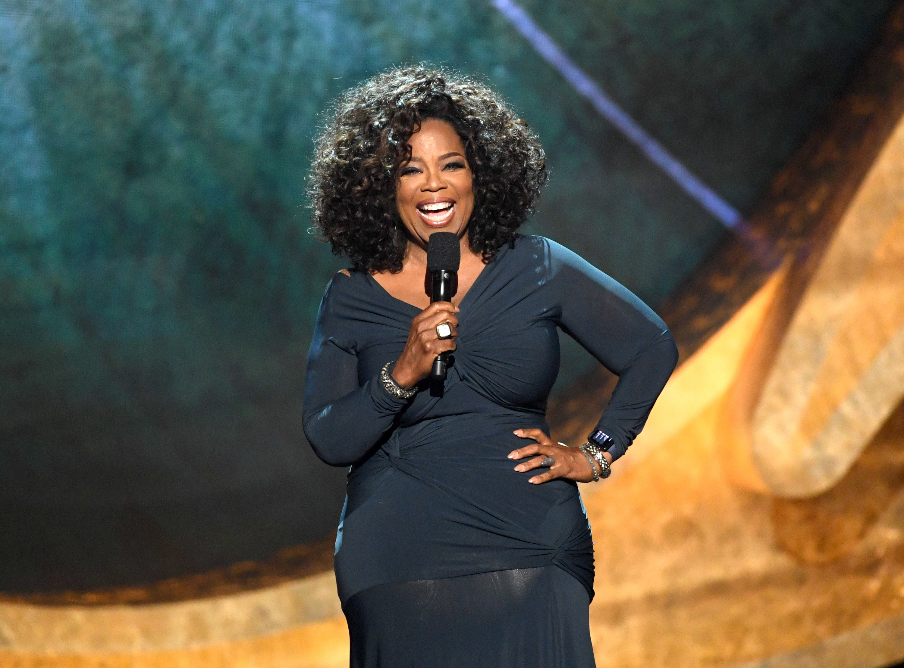 """Oprah Winfrey at """"Q85: A Musical Celebration for Quincy Jones"""" at the Microsoft Theatre on September 25, 2018 in Los Angeles, California.