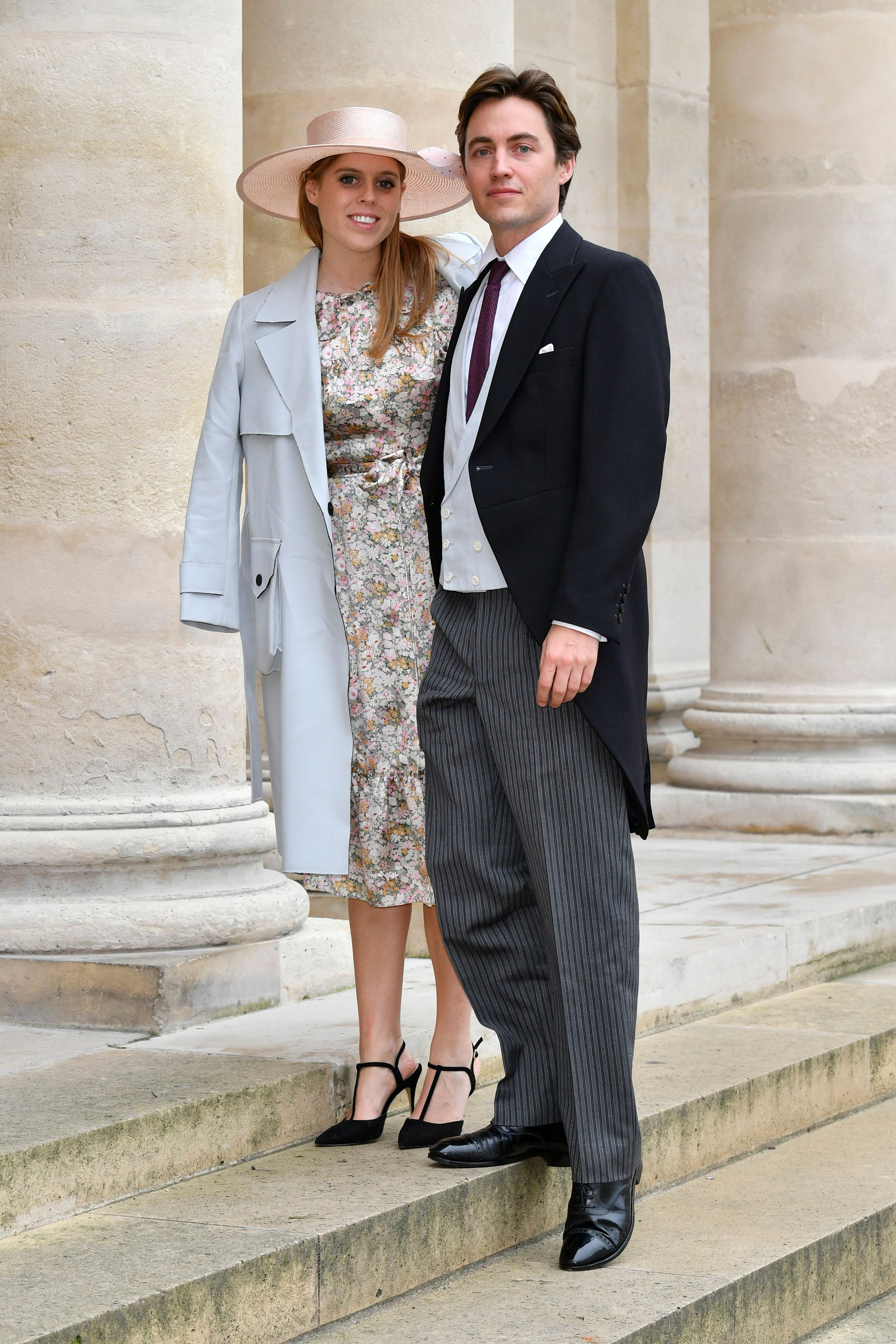 Princess Beatrice d'York and Edoardo Mapelli Mozzi at the Wedding of Prince Jean-Christophe Napoleon and Olympia Von Arco-Zinneberg at Les Invalides on October 19, 2019 in Paris, France | Photo: Getty Images