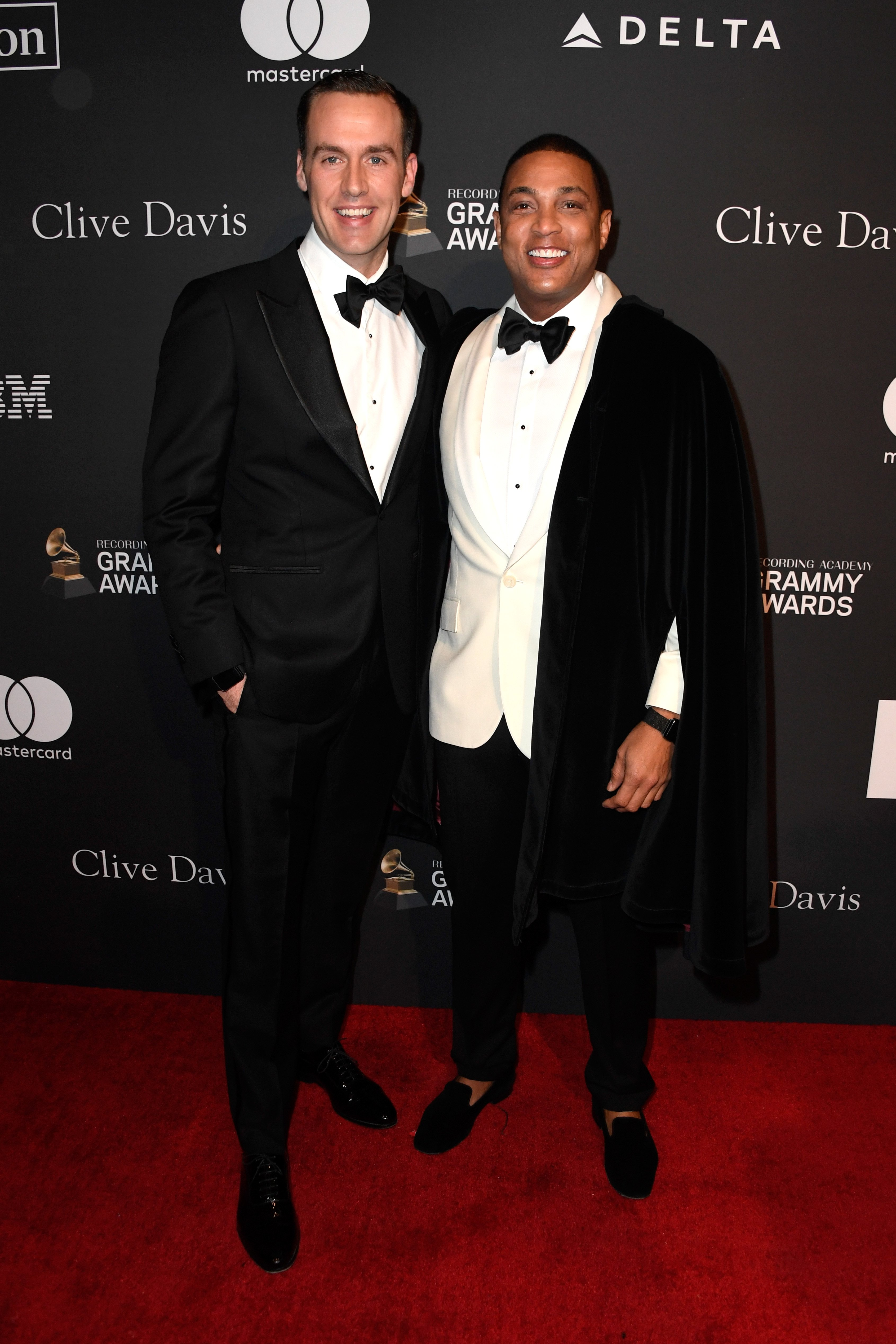 Tim Malone and Don Lemon attend the Pre-Grammy Gala in Beverly Hills, California on February 9, 2019 | Photo: Getty Images