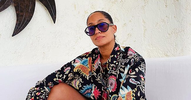 Tracee Ellis Ross Displays Her Toned Body in Floral Top & Matching Shorts in New Photos