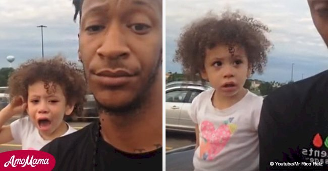 Papa met fin avec brio à la colère publique d'un enfant en bas âge dans une vidéo virale visionnée par des millions de personnes