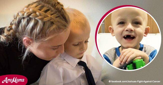 Un petit garçon de 5 ans ayant le cancer décède dans les bras aimants de sa mère après avoir réalisé son dernier souhait