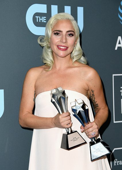 Lady Gaga, winner of the Best Actress award for 'A Star Is Born' and the Best Song award for 'Shallow' from 'A Star Is Born,' at the 24th annual Critics' Choice Awards on January 13, 2019, in Santa Monica, California. | Photo: Getty Images