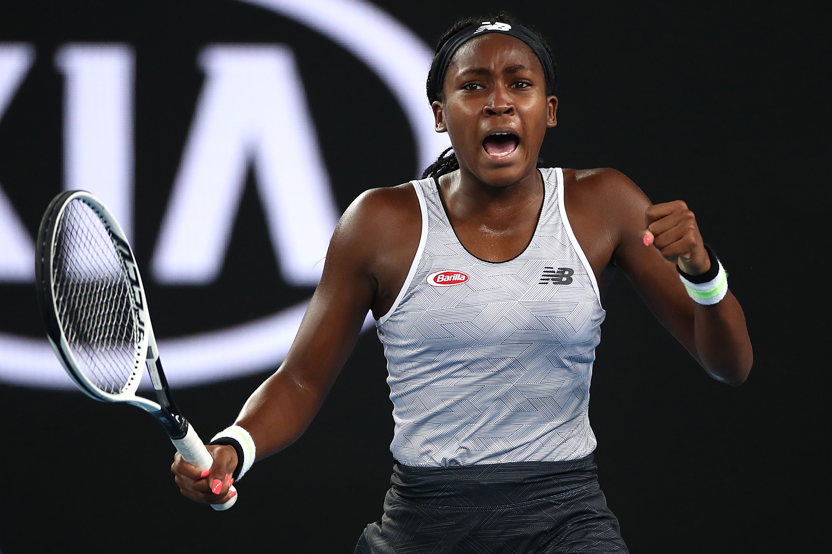 A portrait of Coco Gauff during one of her tennis matches   Source: Getty Images/GlobalImagesUkraine