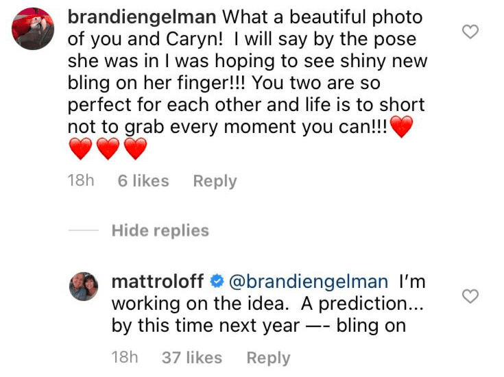 Matt Roloff replying to a fan's comments under a picture he posted on his Instagram page   Photo: Instagram/mattroloff