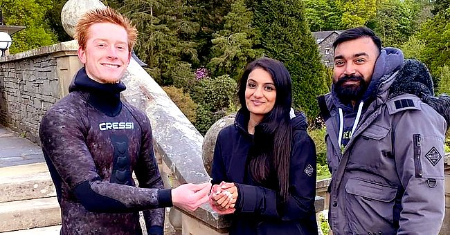 Diver Finds a Lost Ring After a Couple Dropped It Into a Lake 2 Days After Their Engagement