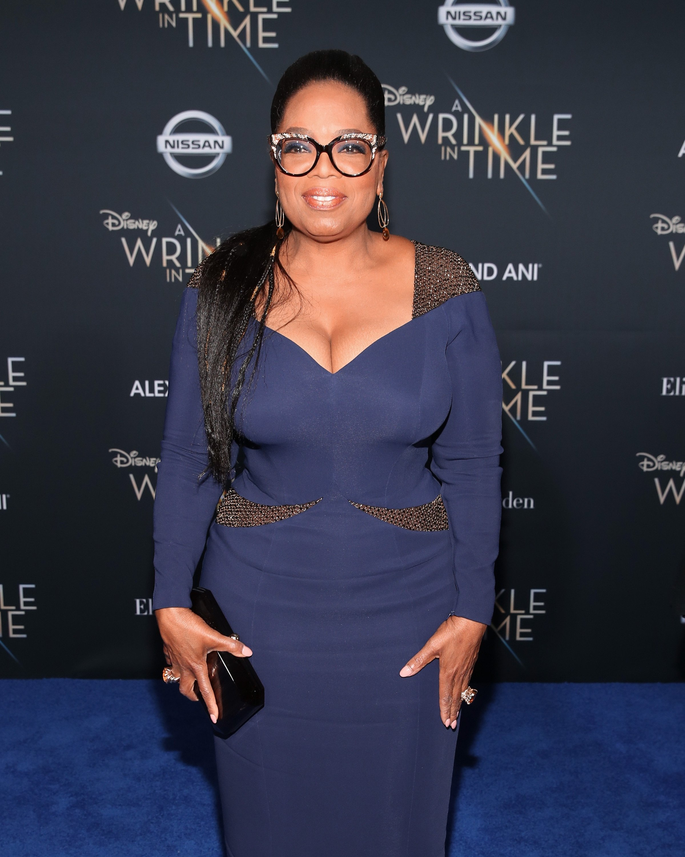 """Oprah Winfrey at the premiere of """"A Wrinkle In Time"""" on February 26, 2018 in Hollywood, California 