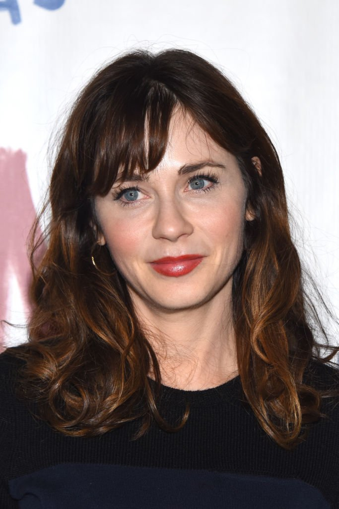 """Zooey Deschanel attends opening night of """"The New One"""" at Ahmanson Theatre. 