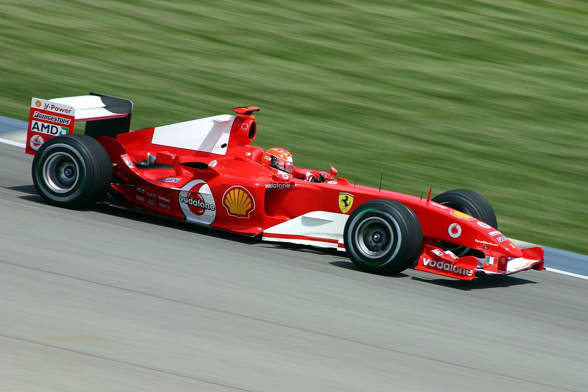 Michael Schumacher, Ferrari, 2004 | Quelle: Wikimedia Commons