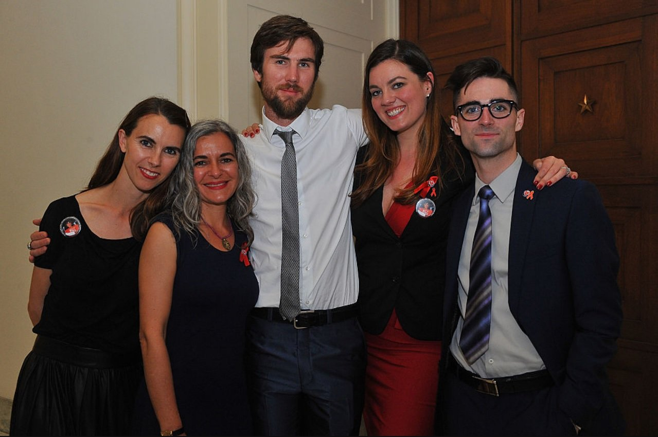 Naomi deLuce Wilding, Laela Wilding, Tarquin Wilding, Eliza Carson and Quinn Tivey attend the Positive Leadership Award reception at the Rayburn House Office Building on April 13, 2015 | Photo: GettyImages