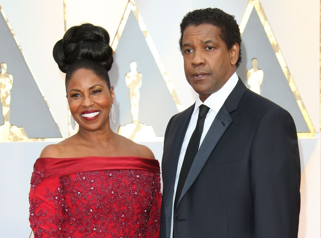 Denzel and Pauletta Washington at the 89th Annual Academy Awards in 2017. | Photo: Getty Images