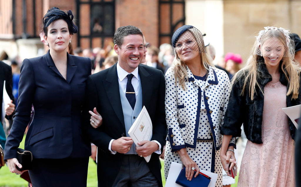 Image Credits: Getty Images/ ate Moss and her daughter Lila Moss attend the wedding of Princess Eugenie of York