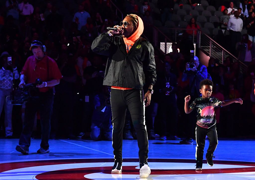 : Rapper Future performs in concert with his son Future Zahir Wilburn on October 24, 2018/ Source: Getty Images