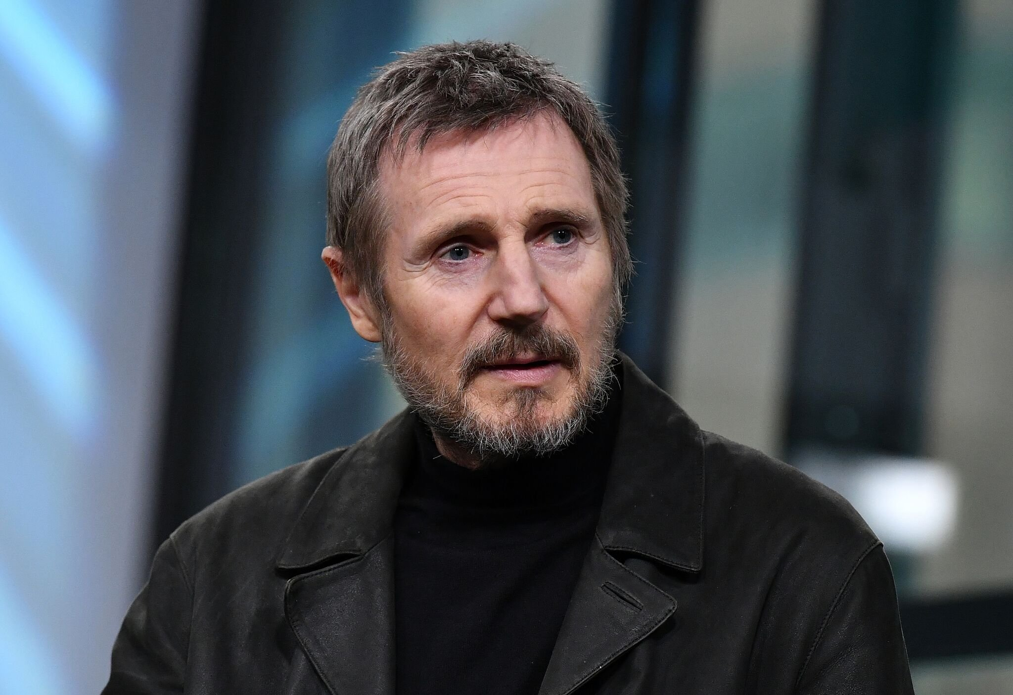 Liam Neeson visits Build Series | Getty Images