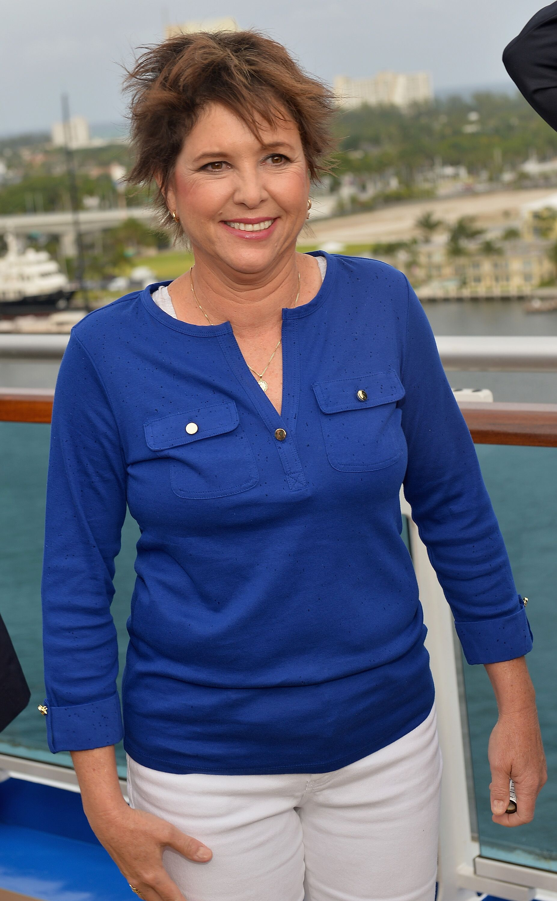 Kristy McNichol attends Love Boat Cast Christening Of Regal Princess Cruise Ship. | Source: Getty Images