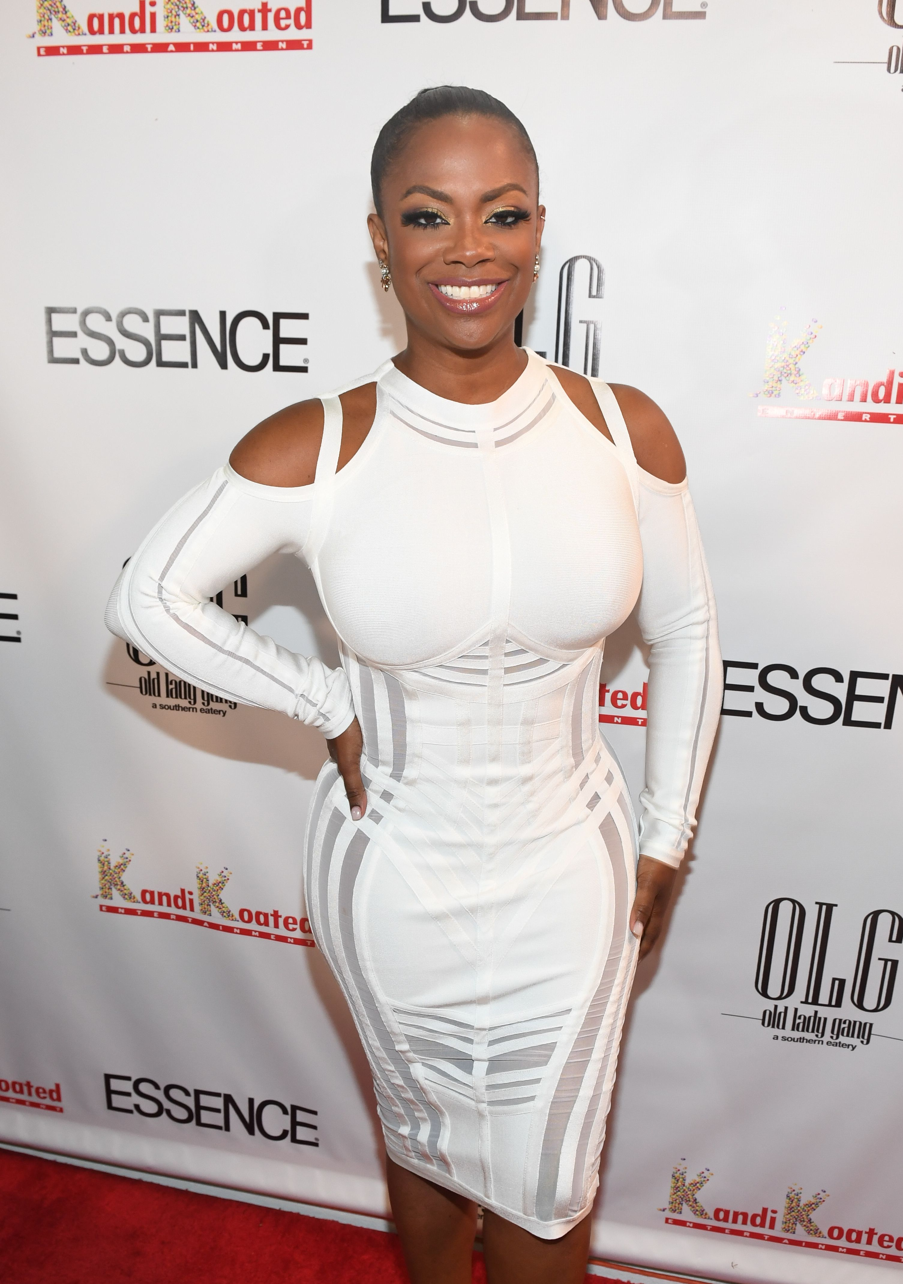 Kandi Burruss at Essence Magazine's celebration of her October cover at Revel on September 22, 2017   Photo: Getty Images