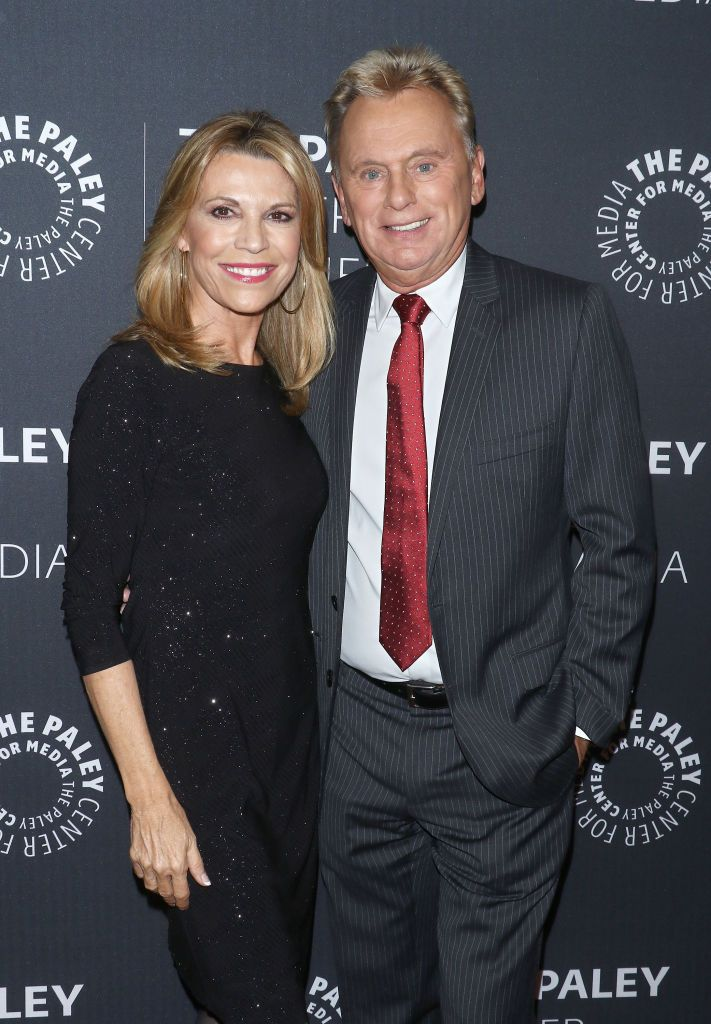 "Vanna White and Pat Sajak at the ""Wheel of Fortune: 35 Years as America's Game"" on November 15, 2017, in New York City 