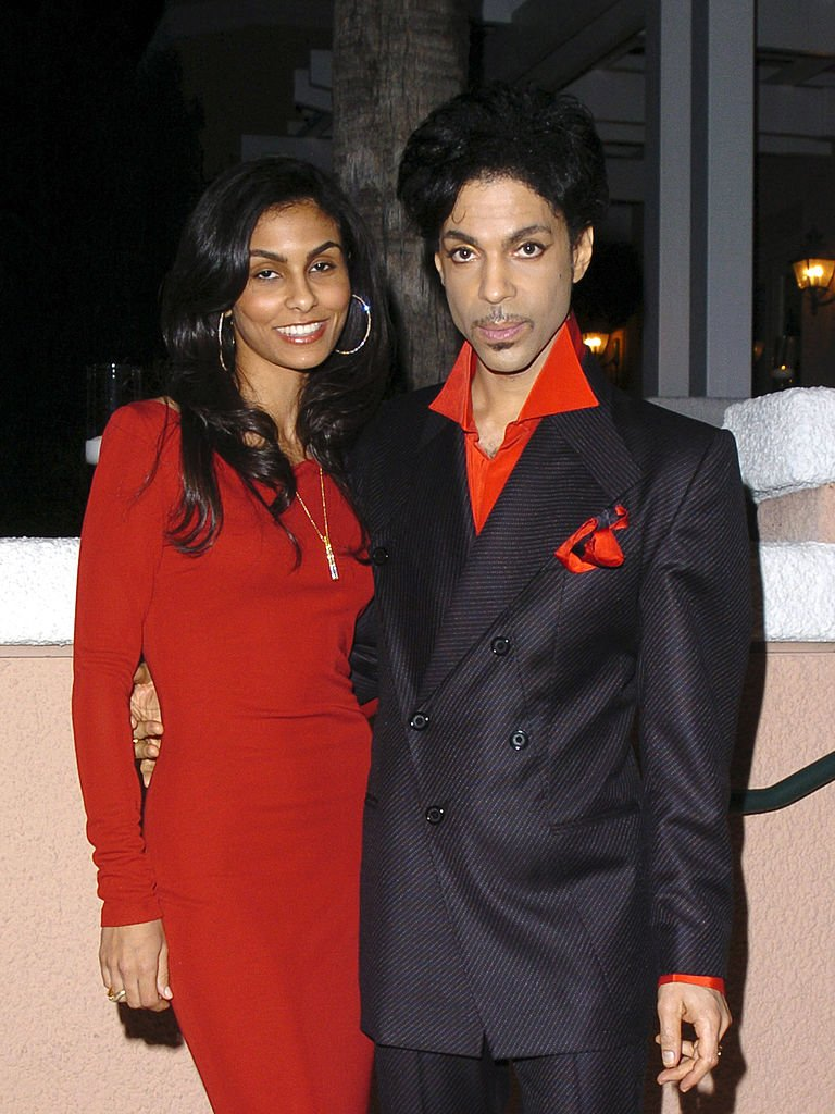 Manuela Testolini and Prince during Clive Davis' 2005 Pre-GRAMMY Awards Party - Cocktail Reception at Beverly Hills Hotel in Beverly Hills | Photo: Getty Images