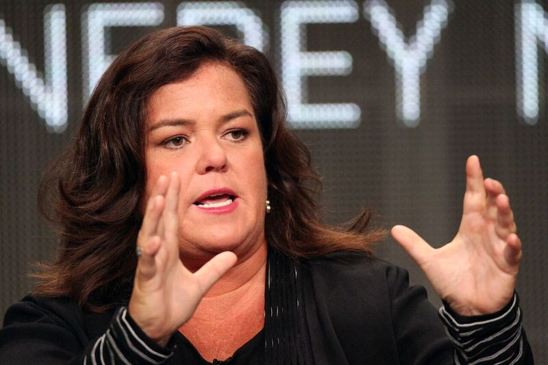 Rosie O'Donnell speaking at an event. Image credit: Getty/GlobalUkraine Images