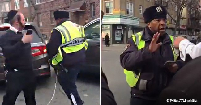 Group of Brooklyn residents harasses black NYPD traffic agent trying to tow car in viral video